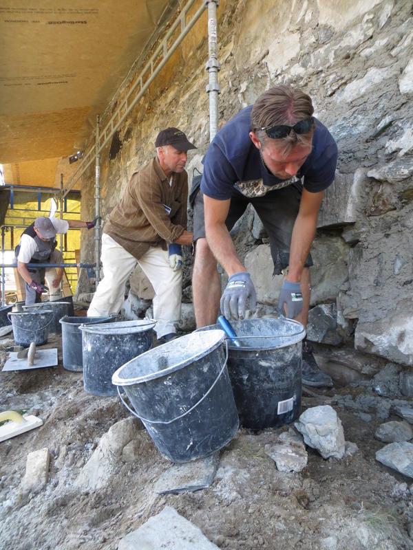 Handverksdager på Røros. Leire - et byggemateriale med lange tradisjoner.