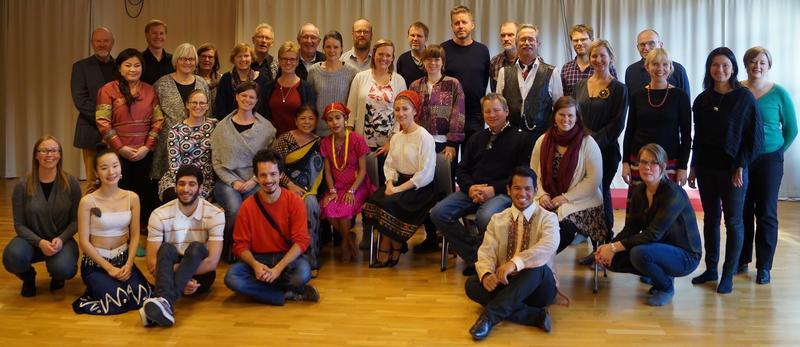 Fra instruktørkurs i konvensjonen om immateriell kulturarv, på Senter for folkemusikk og folkedans, Trondheim 2014. (Foto/Photo)