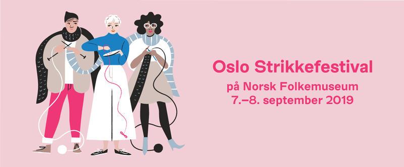 Oslo Strikkefestival på Norsk Folkemuseum, 7. - 8. september, 2019.