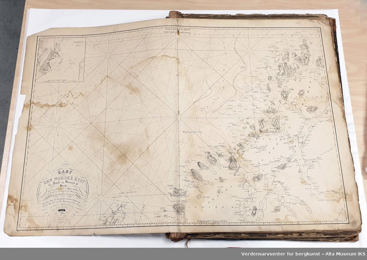 Form: Kartplater innbundet i folioformat