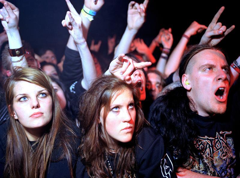 Black metal fans at Emperor concert, Oslo 2005