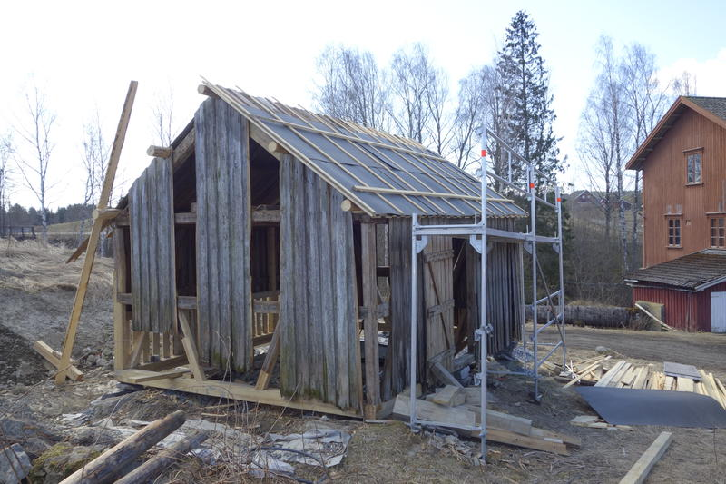 Stallen før restaureringen. Foto: Berit Anderson, MiA. (Foto/Photo)