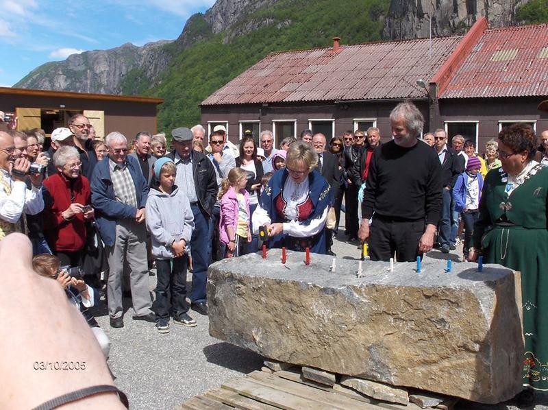 Åpning av Dirdal. Foto: Ukjent (Foto/Photo)