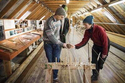 Kurs: Reipslaging Hardanger fartøyvernsenter. Foto/Photo