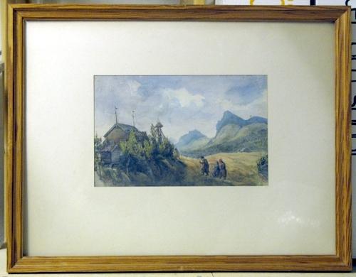 Kvikkjokks kapell 4 Aug 1858 [AKVARELLMÅLNING]