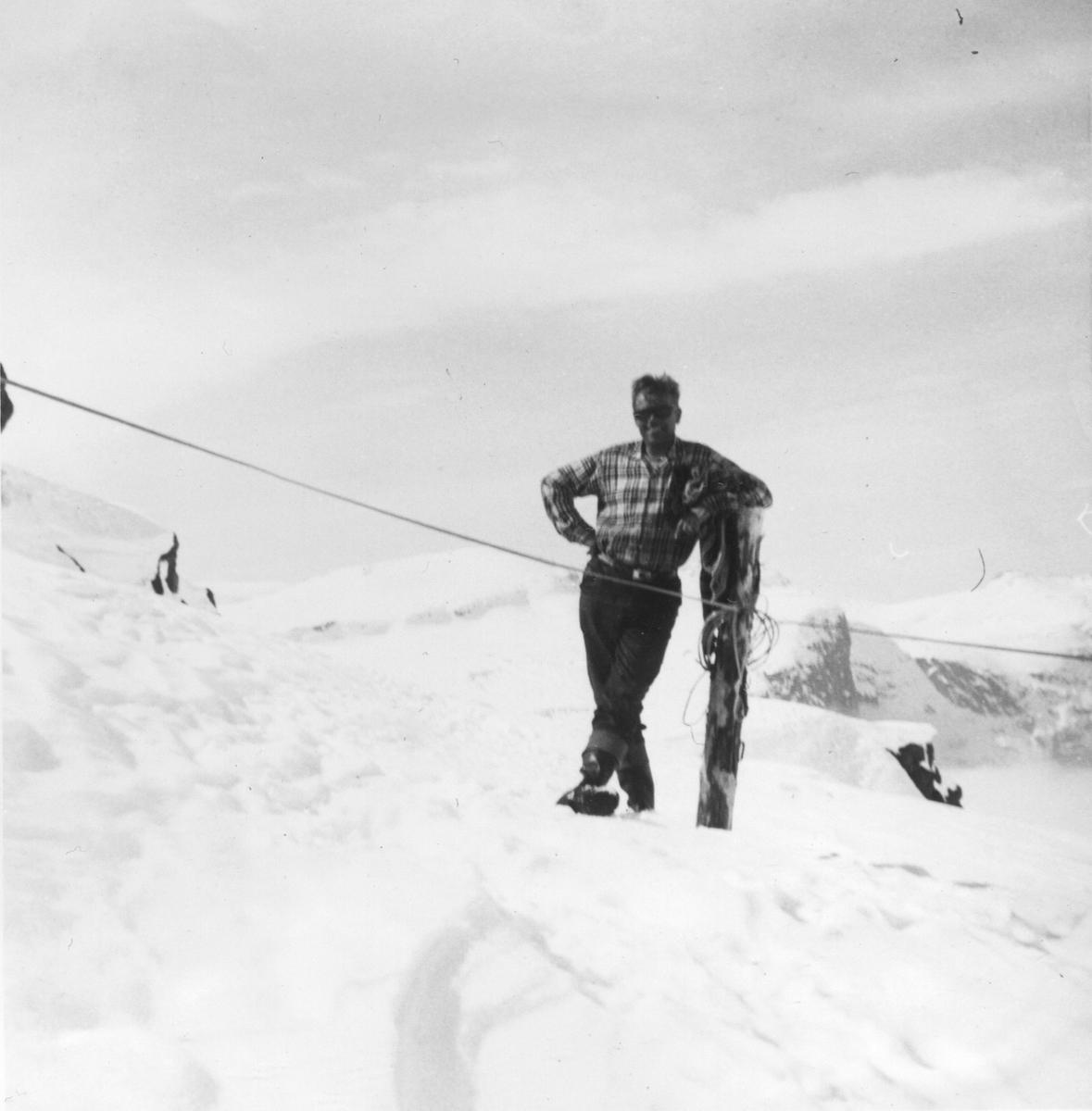 Tysso II, Vinkelen, Georg Vasby, snø, taubane,