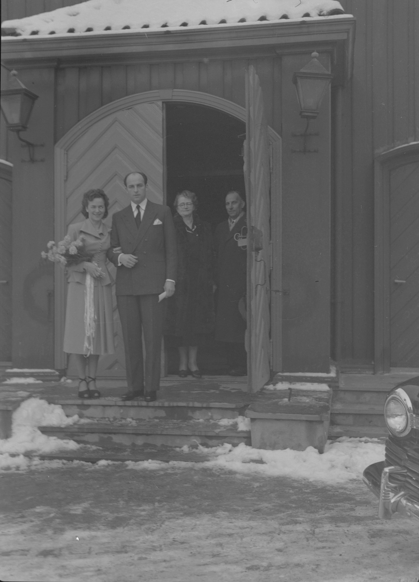 Ingeniør Hans Heierås med brud