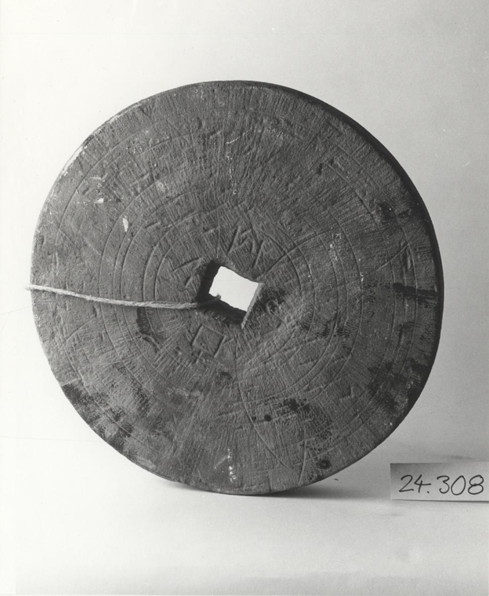 Fyrkantigt hål för axel 50 x 50 mm.Föremålets form: Rund