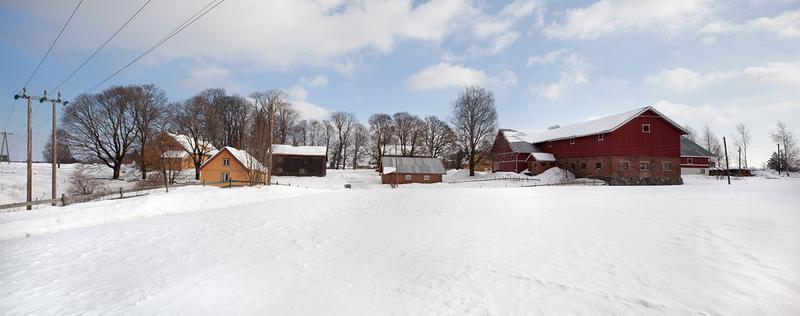 Panoramabilde tatt sørfra om vinteren (Foto/Photo)