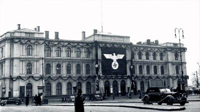 Oslo Sentralstasjon under 2. verdenskrig. Foto/Photo