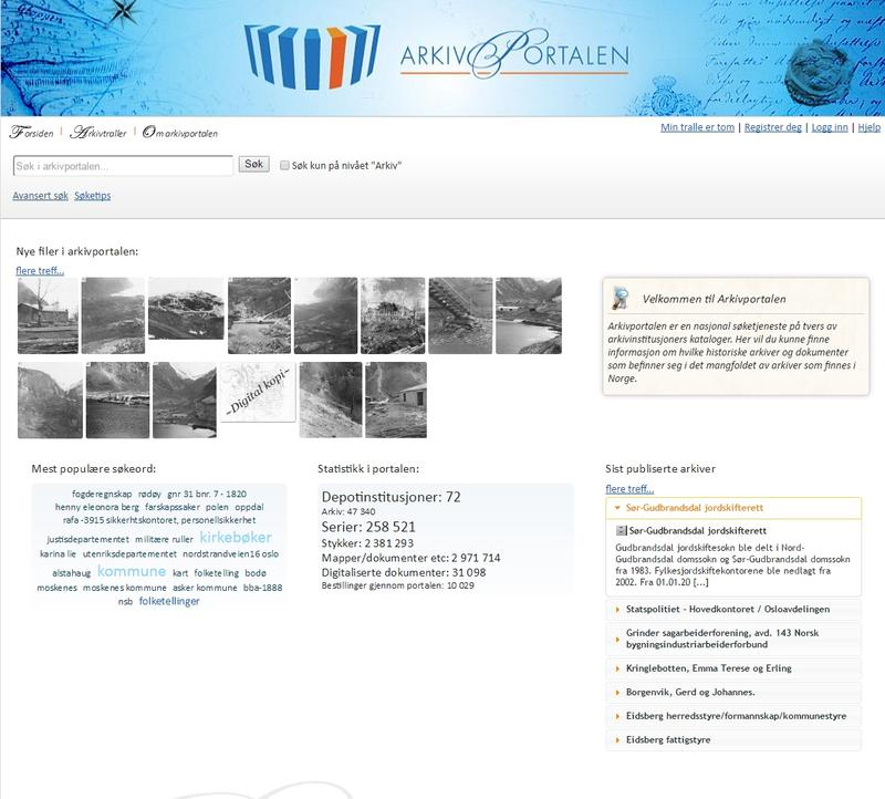 Arkivportalen. Foto/Photo