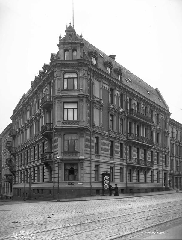 Arbins gate 1. Henrik Ibsens leilighet i andre etasje.