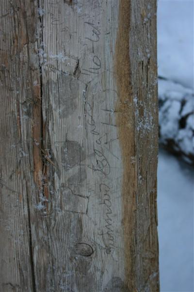 Inskripsjon med blyant (Foto/Photo)