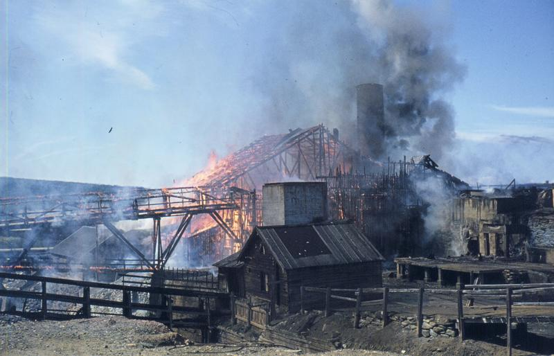 Smelthytta i brann 1975