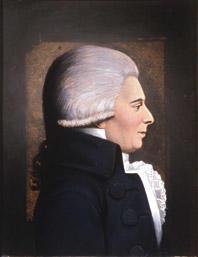 Portrett av Claus Bendeke. Profil mot høyre.