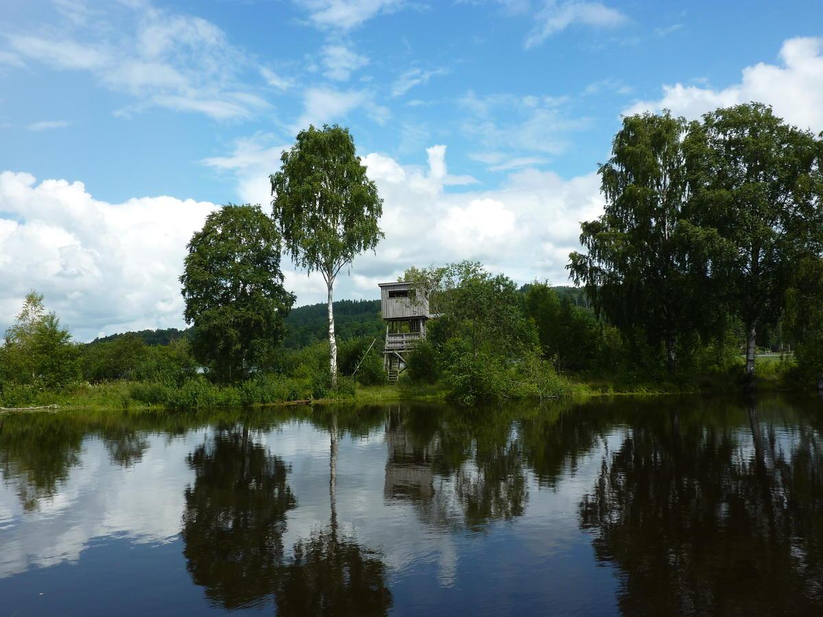 Foto av det gamle fugletårnet på Jørholmen