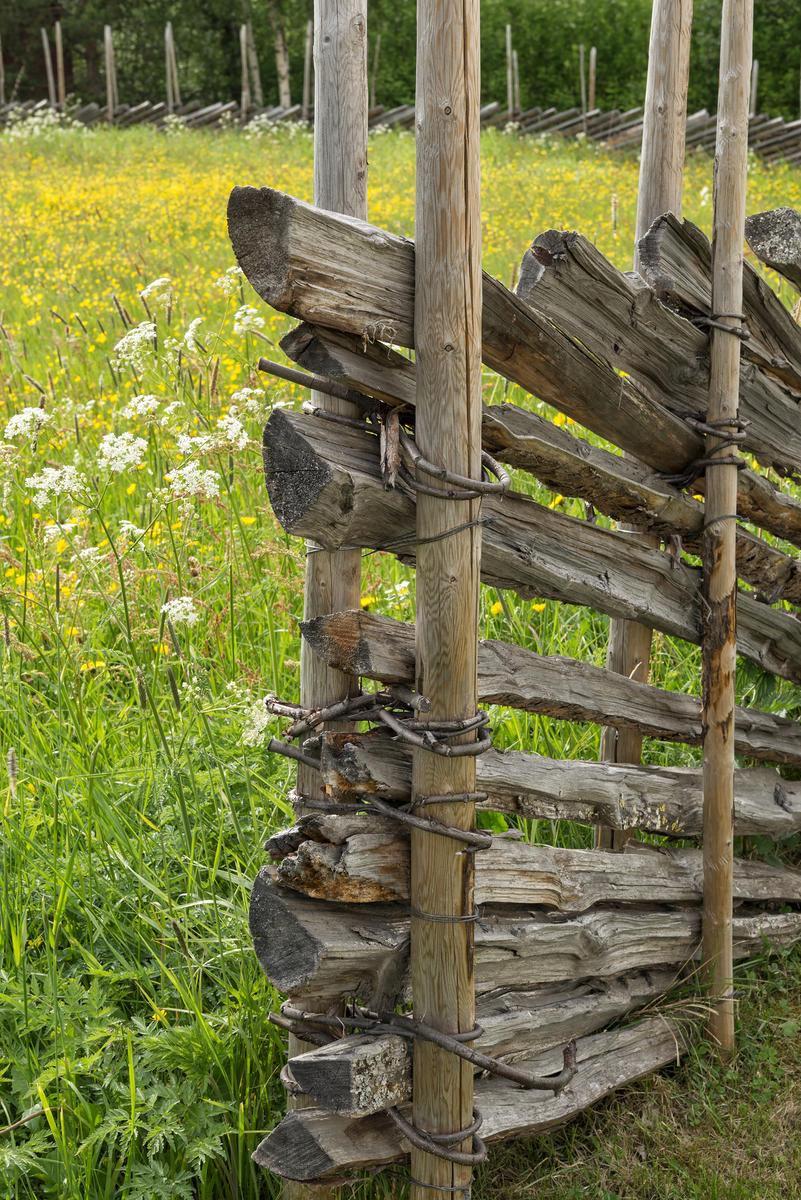 Skigard ved blomstereng. Fra Dølmotunet i Tolga. (Foto/Photo)