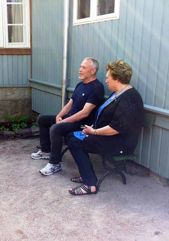 Jørn og Thorill Hilton  i Stupinngata 10 fra Enerhaugen på Norsk Folkemuseum  2012 (Foto/Photo)