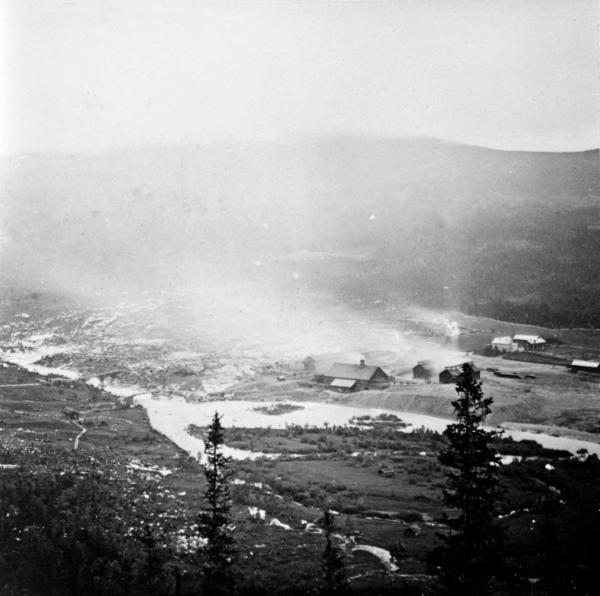 Eidet Smeltehytte 1877. Foto/Photo