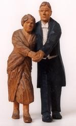 Dansande par i tangofattning [Skulptur]