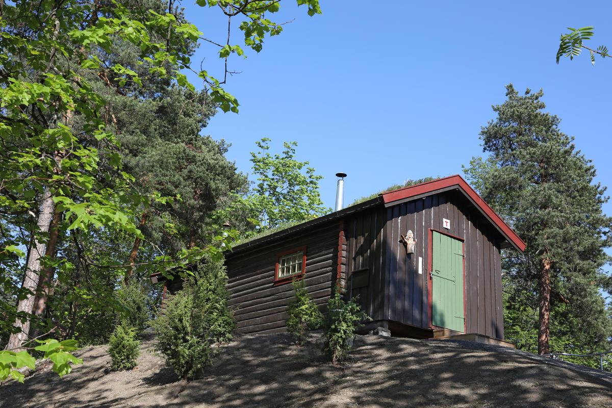 DNT-hytta på Norsk Folkemuseum, 15.05.18. Foto: Astrid Santa, Norsk Folkemuseum