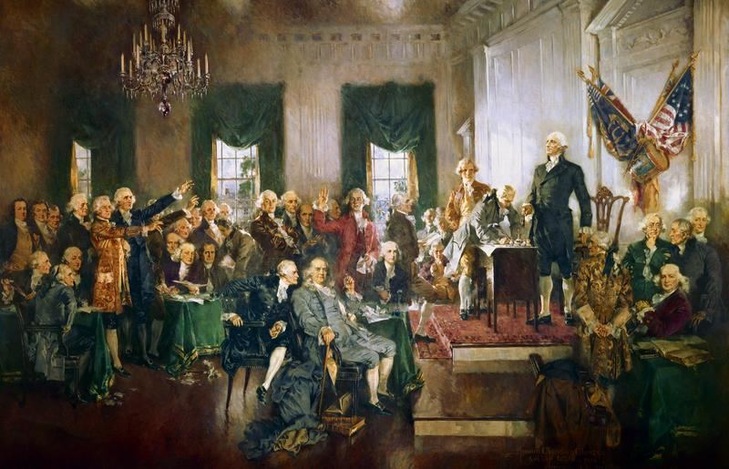 """Scene at the Signing of the Constitution of the United States"" av Howard C. Christy (Foto/Photo)"