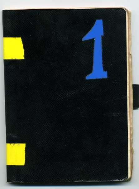 """Elva dagböcker med hårda linnepärmar samt blå respektive svarta vaxpärmar: """"Björnöya 1965"""", """"Spetsbergsexpeditionen 1966"""", numrerade 1-4, """"Svalbard 1967"""", tre böcker """"Edgeöya 1967"""" med tunt häfte """"Förteckning över prover: Edgeöya -67 P.K."""" och """"Spetsbergen 1969"""". Fyra av dagböckerna med penna. Samt 3 st avvägningsböcker med hård grön vaxpärm från expeditionerna 1966, -67 och -69. Dagböckerna ligger in kvadratisk arkivlåda märkt """"Kartor, fältdagböcker, Exp-69 Kartor"""""""