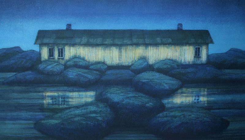 """""""Huset ved havet"""", grafikk (Foto/Photo)"""