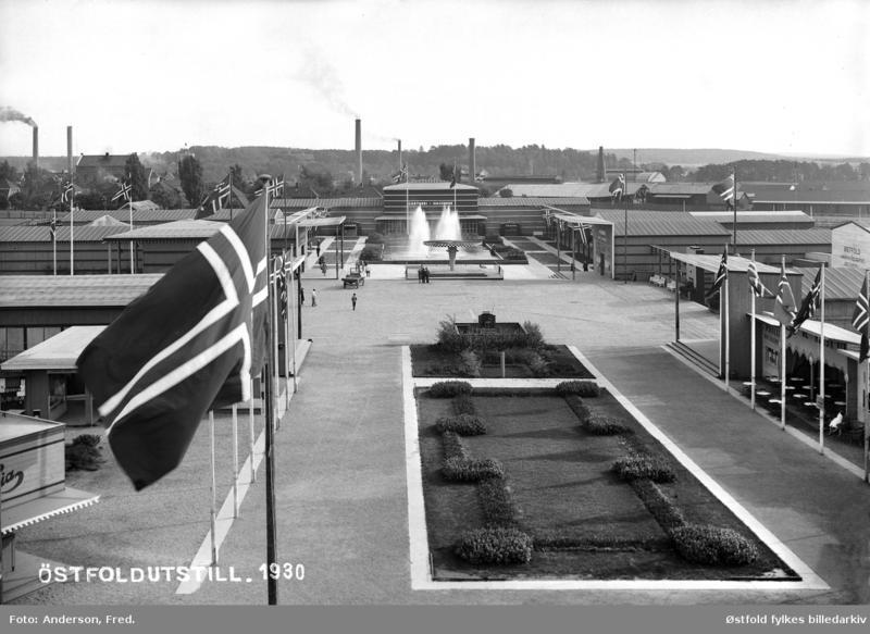 Østfoldutstillingen i Sarpsborg 1930. Foto: Fred Anderson - Østfold fylkes billedarkiv.