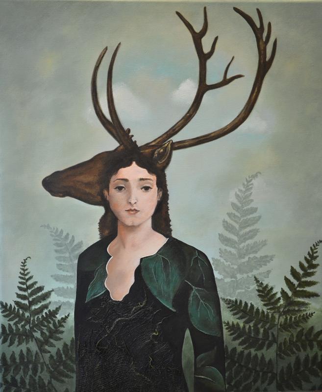 """""""Datter av Frøya"""" av Zuzanna, inspirert av Catrin Welz-Steins maleri """"Forest Warrior"""". (Foto/Photo)"""