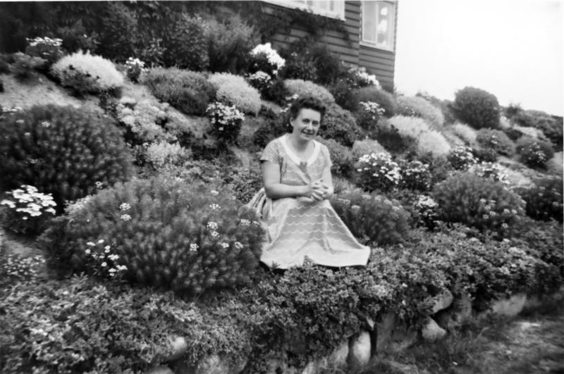 Hagens opprinnelige eier Greta Bjørklund (1950-tallet).