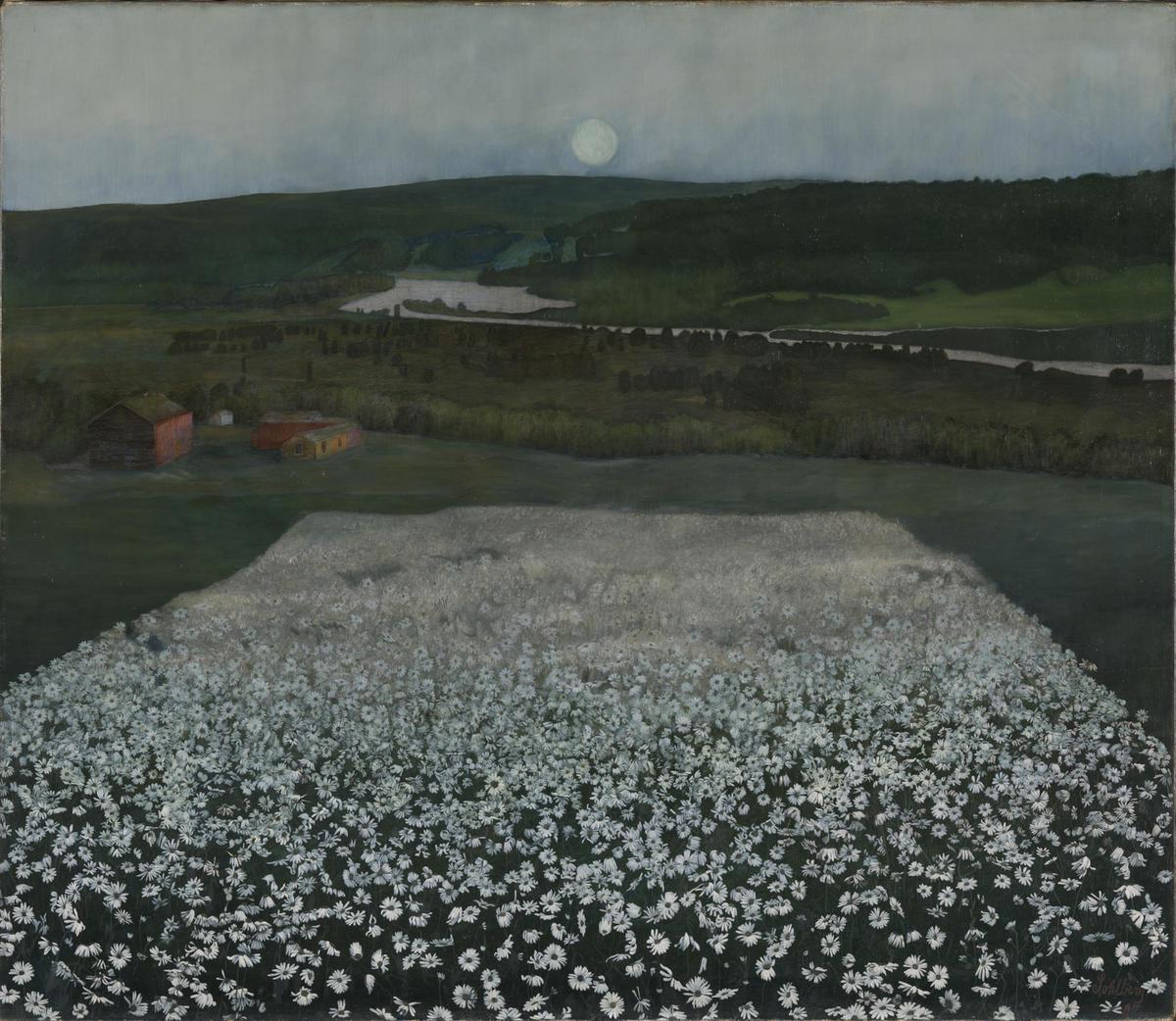 Harald Sohlberg, En blomstereng Nordpå, 1905. Nasjonalmuseet. (Foto/Photo)