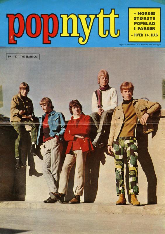 Foto: The Beatnicks i Popnytt, 1967. Arild Krosby lengst til høyre. (Foto/Photo)
