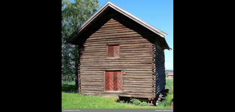 Telthuset slik det sto på Hadeland Folkemuseum