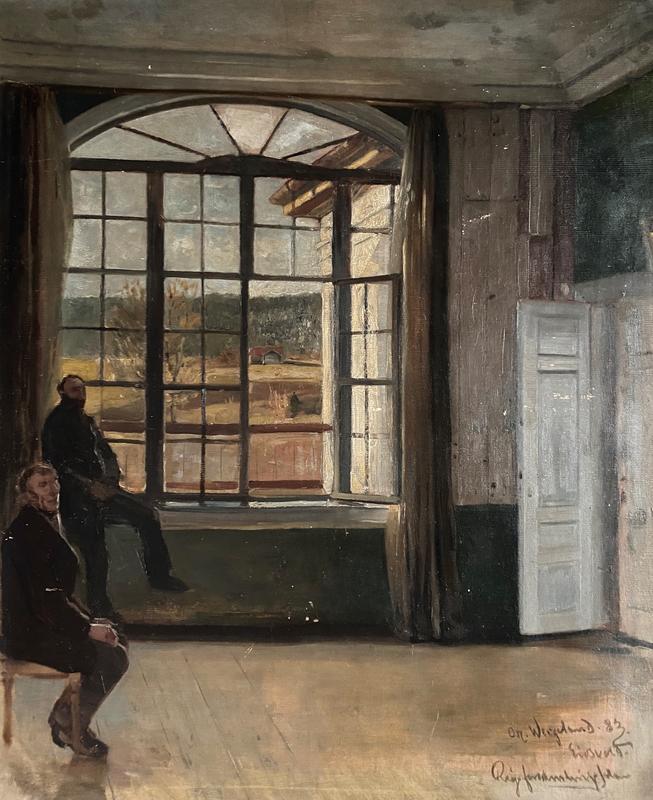 Fra Rigsforsamlingssalen på Eidsvold av Oscar Wergeland. 1883. I privat eie. (Foto/Photo)