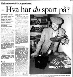 Aftenposten 22. februar 1995 (Foto/Photo)
