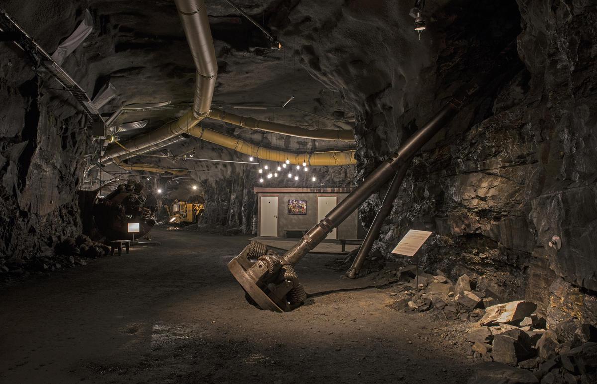 Fra tunnelen på Norsk fjellsprengningsmuseum. Foto: Morten Reiten (Foto/Photo)