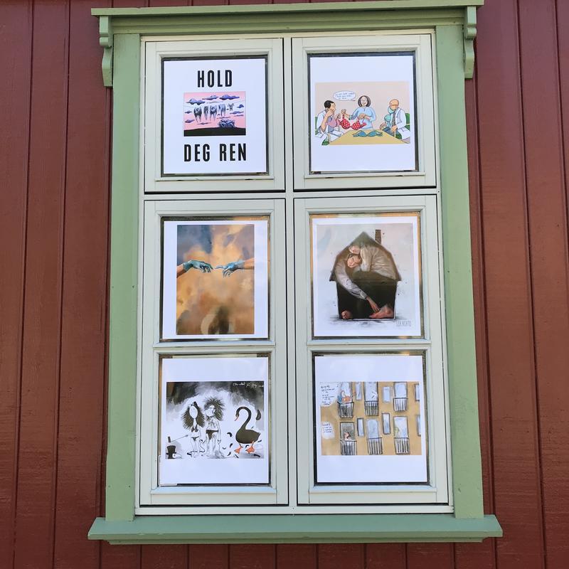 Tegninger av Firuz Kutla, Lene Ask, Knut Løvås, Lisa Aisato, Roar Hagen og Mette Hellenes (Foto/Photo)