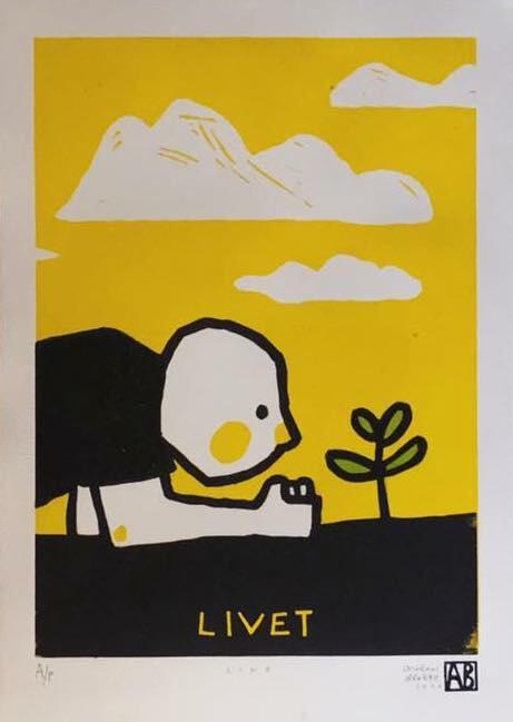 """""""Livet"""" Linotrykk av Andreas Brekke - bidrag til Sommerutstillingen 2020 (Foto/Photo)"""