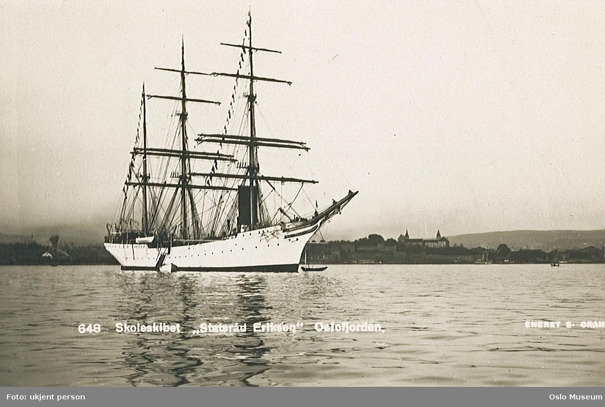 "seilskip, skoleskip ""Sørlandet"", fjord, Akershus festning"