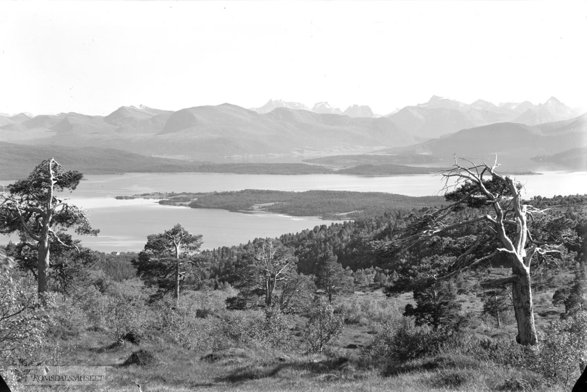 Fra Tusten mot Romsdalen sommer .(se 1061 vinter)